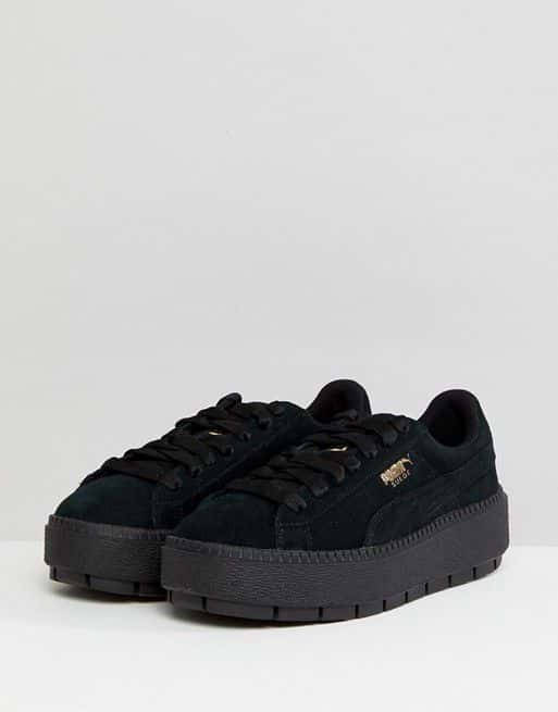 Puma Platform Black Trainers – Shoes