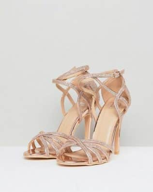 Metallic Heeled Sandal